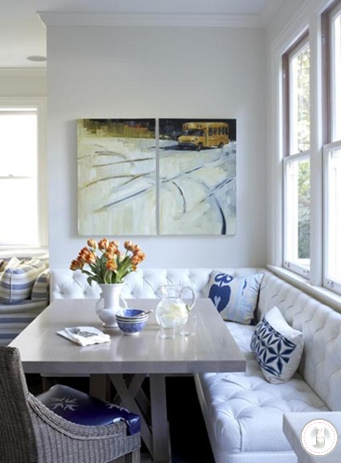 Mesa de jantar com banco santinha do pau oco for Sala design for small house